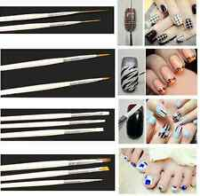 15X Nail Art Salon Painting Drawing Pens Brushes Manicure DIY Decoration Tool HY