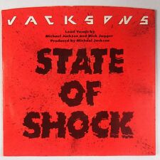 THE JACKSONS: State of Shock USA 45 w/ PS NM- Mick Jagger (Rolling Stones)
