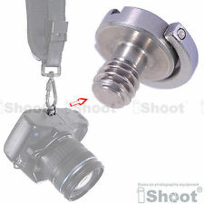 """1/4"""" Folding Adapter Screw for Hanging Camera and Lens to Shoulder/Neck Strap"""