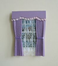 DOLLS HOUSE CURTAINS LILAC AND LACE