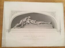 c1860 - Monument Of The Hon Robert Bruce - Engraved By R A Artlett.