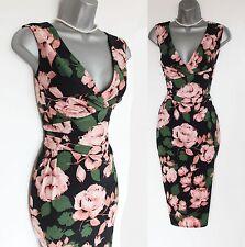 Phase ocho Sevilla Spot Impresión Jersey Elástico Vestido Envolvente Estilo UK10 EU38 £ 99