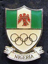 1980s rare NIGERIA Olympic NOC Delegation Team pin