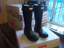 HUNTER WELLIES WELLINGTONS  IN HALIFAX SIZE  10  BLACK  ORIGINAL TALL MENS