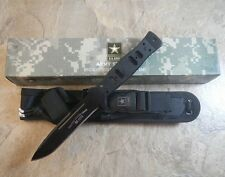 "U.S. Army 9 1/2"" Wilco Fixed Blade Fighting Combat Knife w/Molle Sheath Licensed"