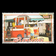 French Polynesia 2004 - Mobile Cafe Trainsport Foot - Sc 873 MNH