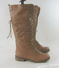 TAN LACE  Military Combat Motorcycle Riding Winter SEXY Mid-calf boot size 9