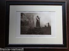 Gravure Encadree Cadre Eau Forte Gustave Jundt La Jeune Femme à la Fontaine 1912