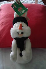 "BUGS BUNNY SNOWMAN 1998 Collectable Magazine Tag 10"" Toy Beanie Birthday Gift"
