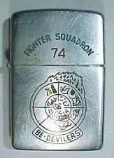 1957 1958 Zippo Lighter VF-74 Bedelivers Navy Fighter Squadron