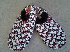 SNOOPY HEAD PRINT MENS shoe size 10 to 12.5 SOFT & CUDDLY SLIPPER SOCKS mint tag