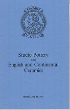 Christie's - Studio Pottery & English and Continental Ceramics- Sevres, Meissen