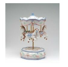 "COLLECTIBLE PORCELAIN MERRY-GO-AROUND , HORSES ""THE CAROUSEL WALTZ"" MUSIC BOX"
