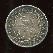 ** BRITISH WEST INDIES 1822 (ANCHOR MONEY) 1/4 DOLLAR...SCARCE **