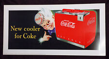 COCA COLA poster pubblicitario NEW COOLER FOR COKE