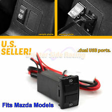 FITS MAZDA 3/5/6 TRIBUTE 2-PORTS 12V DC 2.0A USB POWER SOURCE PLUG DIRECT FIT