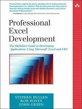 Professional Excel Development: The Definitive Guide to Developing Applications
