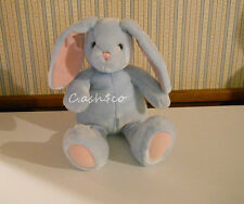 "Pottery Barn Large 18"" blue Bunny Rabbit pink inner ears & paw pads plush soft"