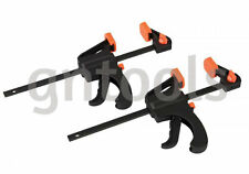 "2PC MICRO QUICK GRIP BAR CLAMP/SPREADER 4"" 100MM TWIN PACK CRAFT HOBBY TOOLS"