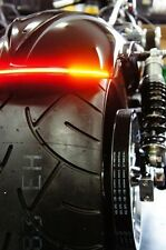 """Flexible LED Motorcycle Light Bar w/ Brake and Turn Signals - 9.8"""" - Smoked Lens"""