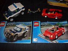 Lego City set 60007 Police car and thief robber cars set