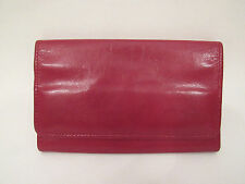 VINTAGE 1970s RED LEATHER WALLET MADE IN INDIA