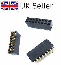 2Pcs 2x8 16 Pin 2.54mm Double Row Female Straight Header Pitch Socket Pin MFR