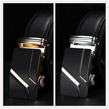 Luxury Men's Casual Leather Automatic Buckle Waist Strap Belt Waistband