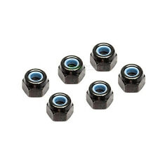 6 X RC Car 4mm Black Aluminium Locking Wheel Nuts 1/10 1/16 Tamiya Ansmann Drift