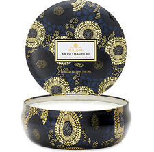 Voluspa 3 Wick in Decorative Tin Candle Moso Bamboo 12oz (NEW) Anthropologie