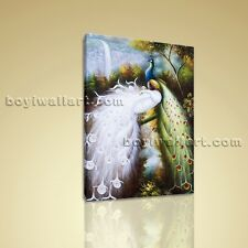 Large Giclee Print Canvas Wall Art Peacock Feng Shui For Living Room Home Decor