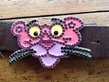ICE ICEBERG PINK PANTHER BELT WITH DIAMANTE DETAIL