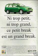 Publicité Advertising 1998 Seat Cordoba Vario
