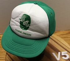 VINTGE VE TIRES EUGENE OREGON HAT GREEN & WHITE SNAPBACK TRUCKERS STYLE GUC
