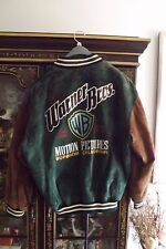 Warner Brothers Bros Suede Leather Jacket Coat Men's Med Motion Picture Studio