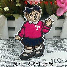 Sew on & iron on  patches(Pink School Girl Teddy)