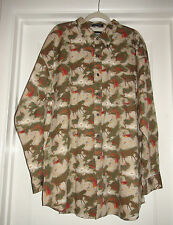 Mens Resistol Rodeo Western Cowboy Horse print button down Shirt 2XL Oversized