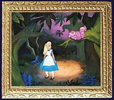 ALICE WITH CHESHIRE CAT Framed Dollhouse Art Picture - MADE IN AMERICA
