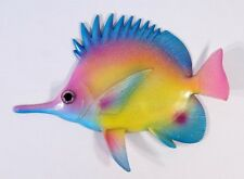 "Hand Painted 12"" Glitter Cartoon Tropical Fish Wall Mount Decor Pink Blue 8C-3"