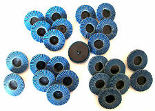 "25pc CALHAWK 2"" ROLOC SANDING FLAP DISCS ZIRCONIA TYPE R ASSORTMENT ROLL LOCK"