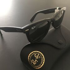 Ray-Ban RB2140 1184 Vintage Black Original Wayfarer Sunglasses Hand Made Italy