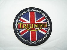 Triumph Union Jack Iron on/ Sew on Patch Biker Motorcycle