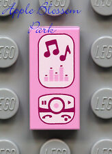 LEGO Minifig iPod MUSIC PLAYER 1x2 PRINTED TILE - Friends Pink Cell Phone Radio