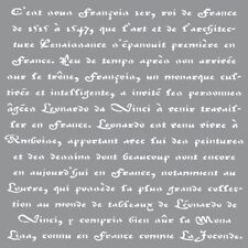 "Americana Decor Stencils-12"" x 12""-Old French Script"