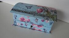 Rosen Schatulle Kästchen Kasten für Schmuck Schmuckbox Schmuckkasten aus Karton