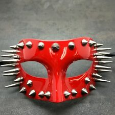 Spiked Red Half Men's Mask Halloween Unisex Masquerade Mask Costume Mask