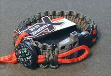 550 EXTREME PARACORD SURVIVAL BRACELET. FISHING LN/ HOOK / TRIP WIRE / WHISTLE