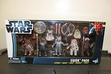 Star Wars 2012 EWOK PACK 5-Figure Set Toys R Us Exclusive - MISB