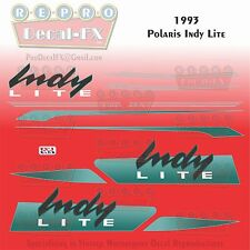 1993 Indy Lite Polaris Graphics Reproduction 11 Pc Hood Decal Snowmobile Kit