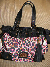 Juicy Couture Malibu Nylon Daydreamer LARGE Handbag COLOR Leopard NEW NWT $198
